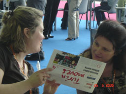 Debbie Quinn (left), Suzanne Connolly, Turin Olympiad