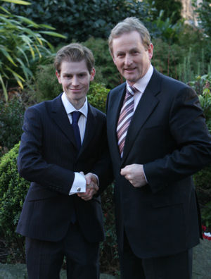 John Kennedy with Fine Gael leader Enda Kenny in 2007