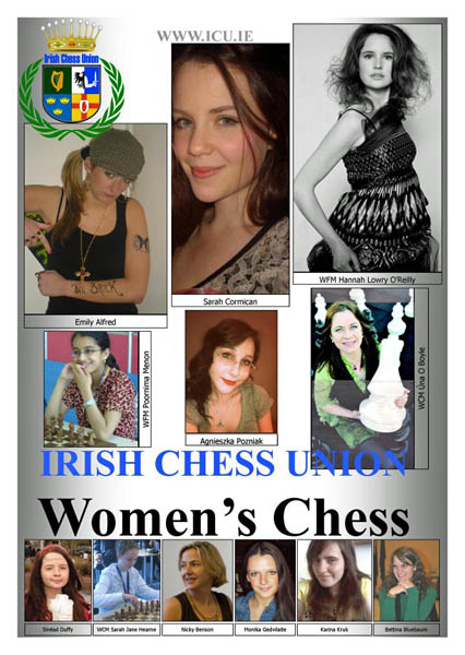Irish Women's Chess poster by Úna O Boyle