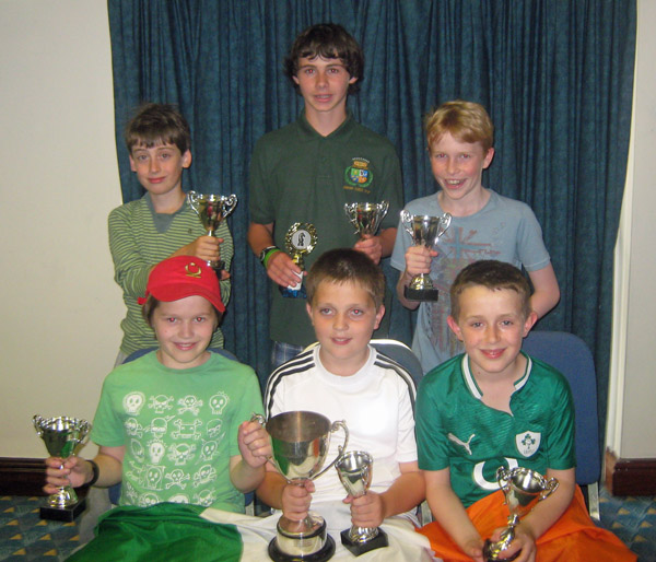Winners of the Bernadette Stokes Cup: back row, from left, Tom O'Gorman, Michael Higgins, David Halpenny; front row from left: Ross Beatty, Pádraig Hughes, Fiachra Scallan