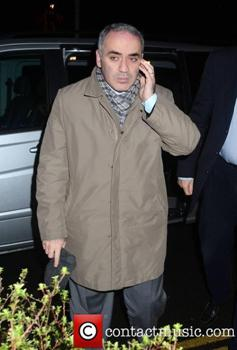 Garry Kasparov arrives for the Late Late Show in Dublin