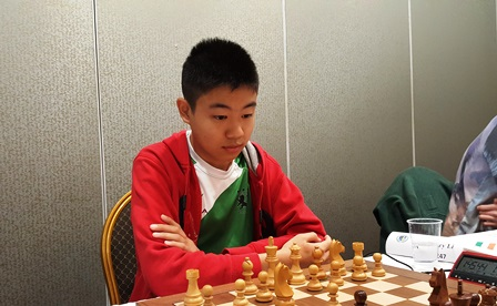 Henry Li, at the Irish Championship