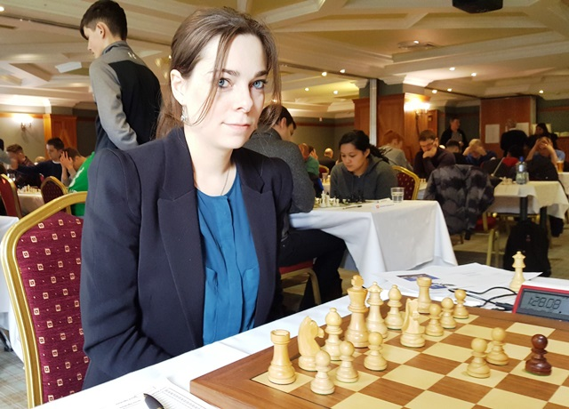 Dina Belenkaya, WGM from Russia at the Bunratty Masters