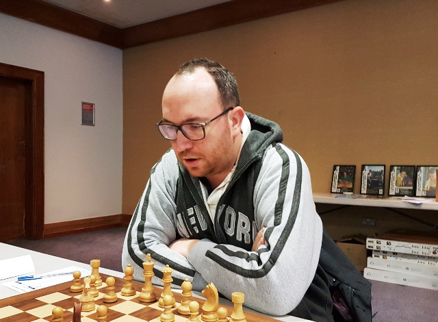Fabien Libiszewski GM from France, at the Kilkenny Masters
