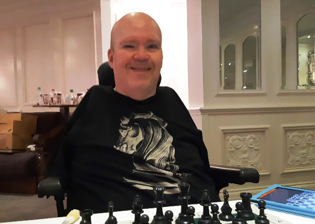 Paul Anderson, a regular player at the Bunratty Chess Festival