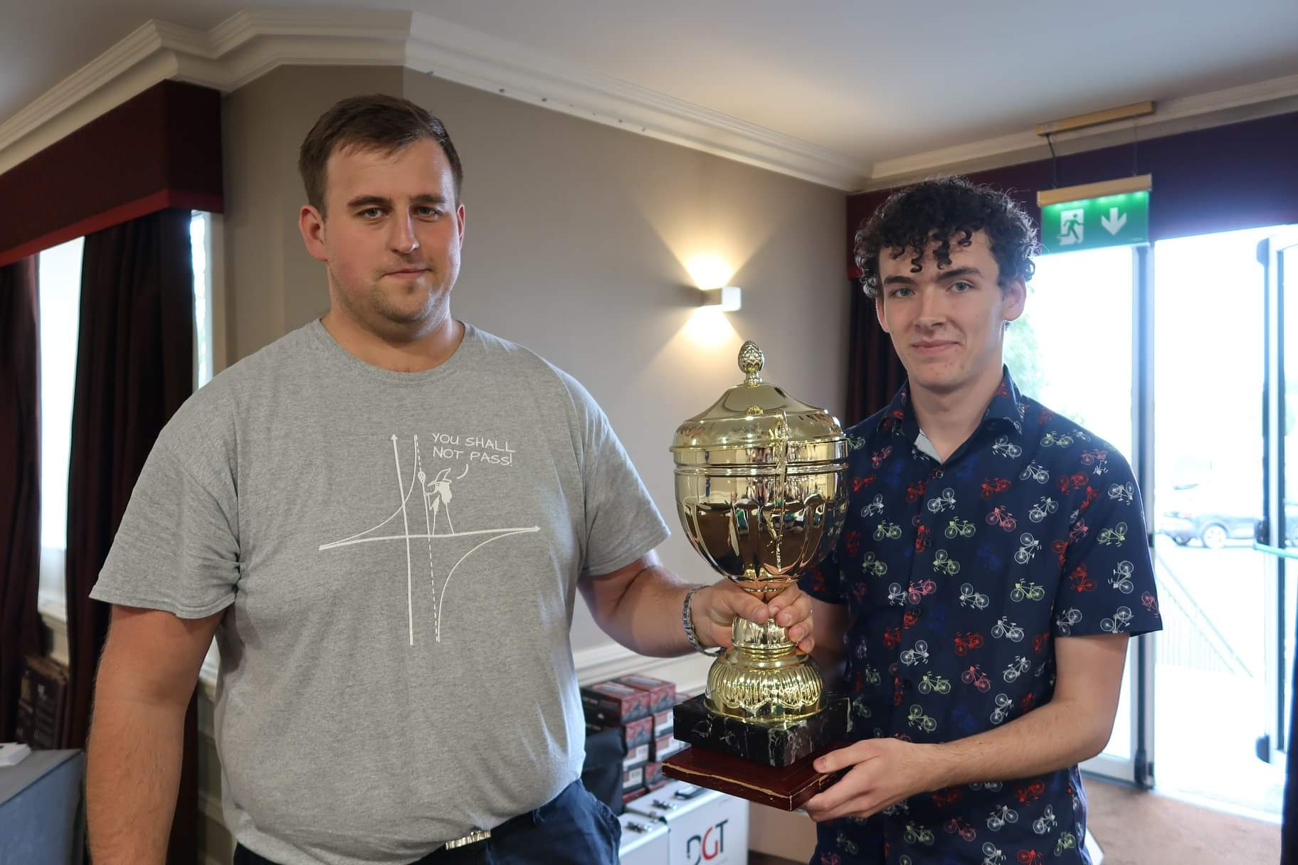 2019 Irish Champion Conor Murphy congratudlated by Ivan Baburin, Chief Arbiter.jpg